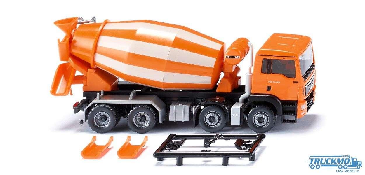 Wiking MAN TGS Euro 6 Liebherr Fahrmischer orange 068148