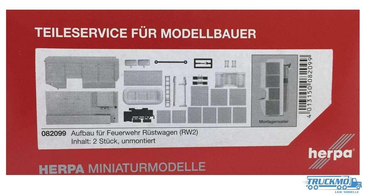 Herpa Feuerwehr-Aufbau RW2 Inhalt: 2 Stück 082099
