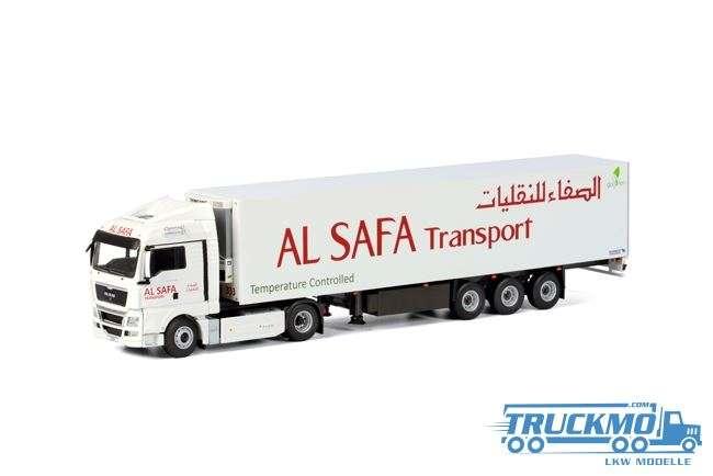 WSI Al Safa Transport LKW Modell MAN TGX XLX Kühlauflieger Thermoking (3 Achs) 01-1860