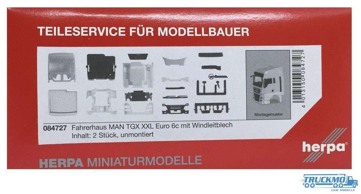Herpa Fahrerhaus MAN TGX XXL Euro 6c mit Windleitblech Inhalt: 2 Stück 084727
