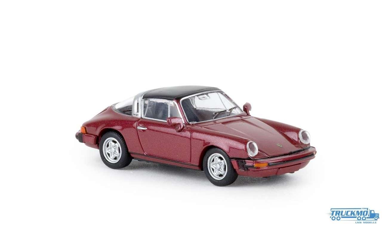 1//87 Brekina Porsche 911 G Targa dunkelrot metallic 16361