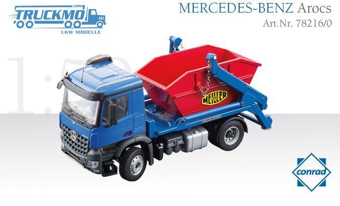 Mercedes Benz Arocs Meiller Abrollkipper Conrad Modelle con 78217//0