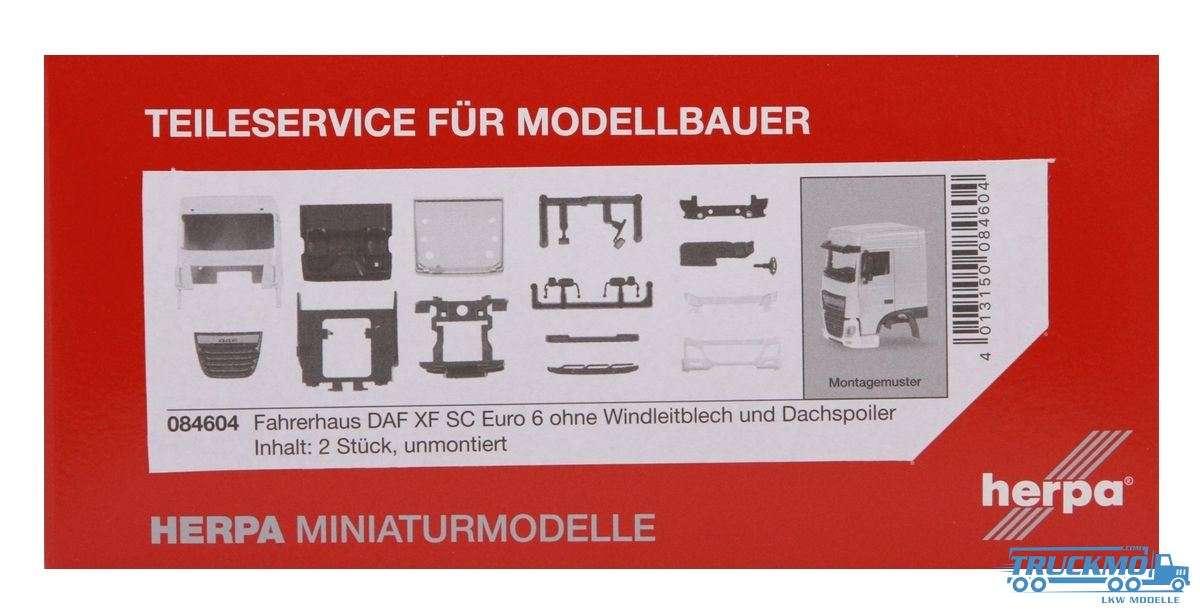 Herpa Fahrerhaus DAF XF SC Euro 6 ohne Windleitblech und Dachspoiler 084604