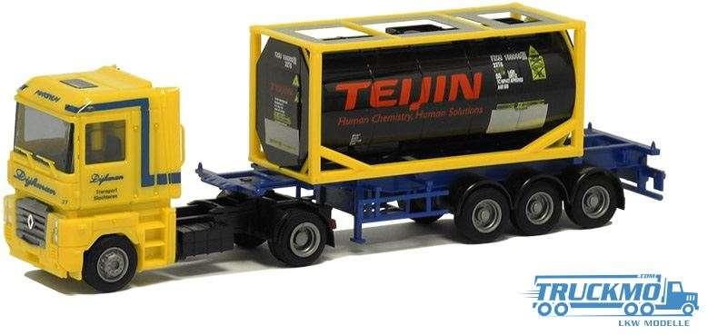 AWM Dijkman / Teijin Renault Magnum Containerauflieger 53760