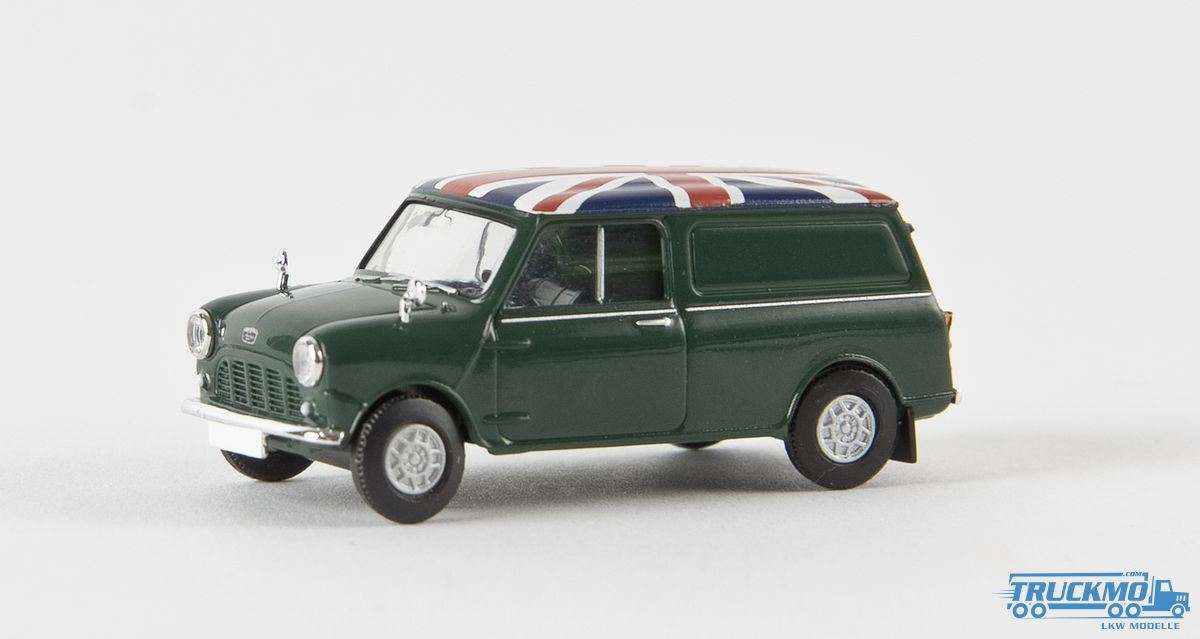 Brekina Union Jack Austin Mini Van moosgrün 15359