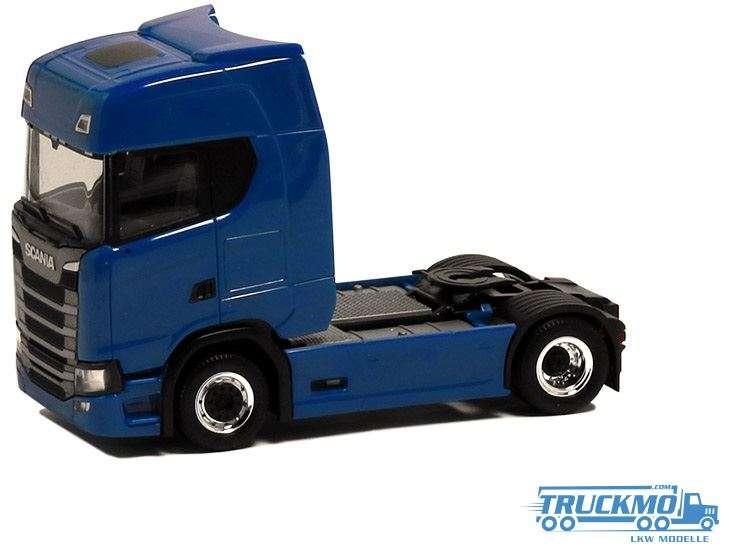 Herpa Scania CS20 HD blau Felgen chrom schwarz 580432