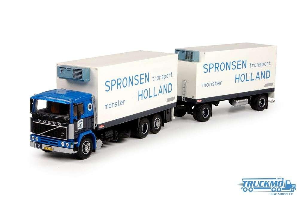 Tekno Van Spronsen LKW Modell Volvo F12 Motorwagen mit Anhänger 70239