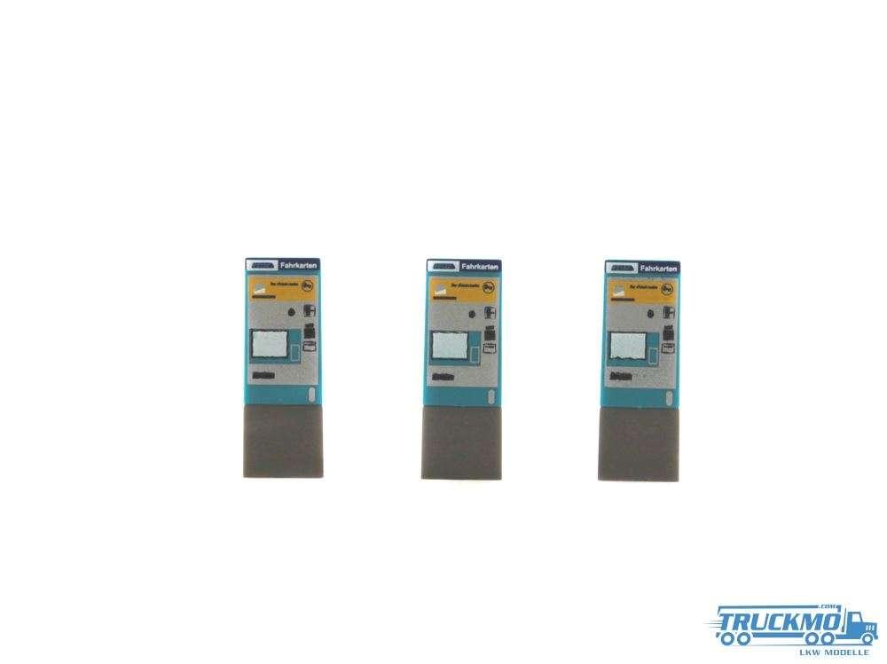 Rietze Fahrkartenautomat RMV Frankfurt 3 Stück 70296