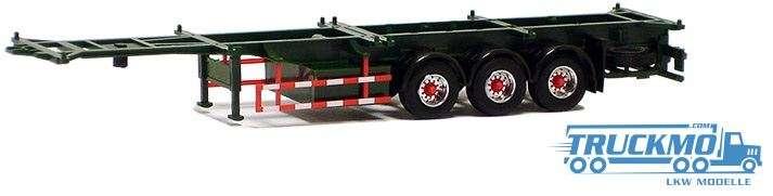 AWM Container Chassis 40ft. Trailer 3achs dunkelgrün Felgen chrom/rot 480284