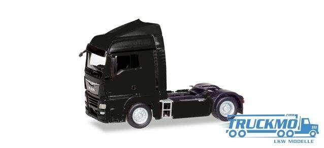 Herpa LKW Modell MAN TGX XLX Euro 6c Zugmaschine schwarz 308335