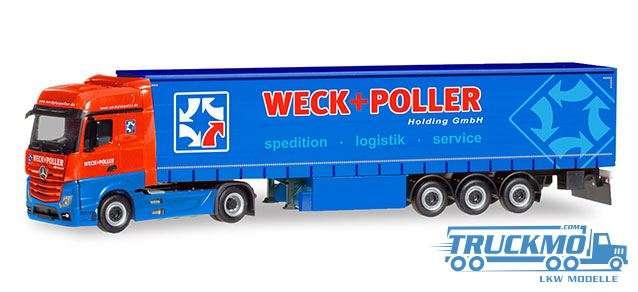 Herpa Weck + Poller Mercedes-Benz Actros Bigspace Gardinenplanen-Sattelzug 310314