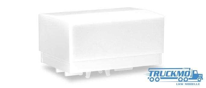 Herpa Zubehör Ballastpritschen groß für Schwerlastzugmaschine, weiß (2 Stück) 053877