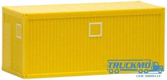 Herpa Formneuheit Bau/Bürocontainer 20ft. gelb 490644