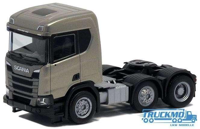 Herpa Scania CR ND 3achs graualuminium metallic 580441