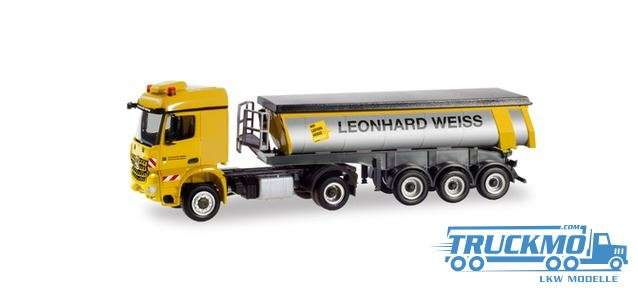 Herpa Leonhard Weiss Volvo FH thermo trough Trailer 311045