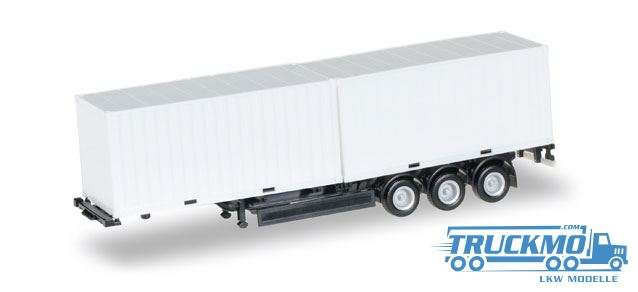 Herpa Containerchassis Krone mit 2 x 20 ft. Container Chassis schwarz 076494-002