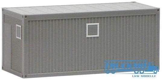 Herpa Formneuheit Bau/Bürocontainer 20ft. grau 490646