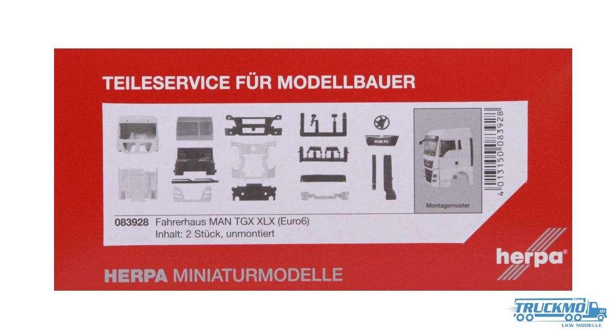 Herpa Fahrerhaus LKW-Modell MAN TGX XLX Euro 6 ohne WLB & Dachspoiler Inhalt: 2 Stück