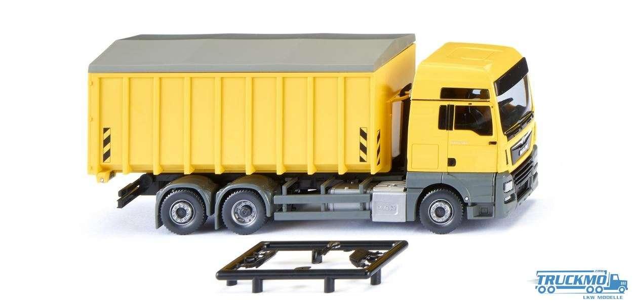 Wiking MAN TGX Euro 6c Meiller Abrollcontainer zinkgelb 067205