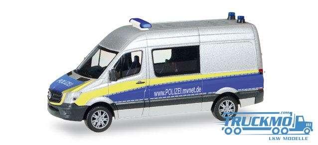 Herpa Polizei Mecklenburg-Vorpommern Mercedes-Benz Sprinter Halbbus 093088