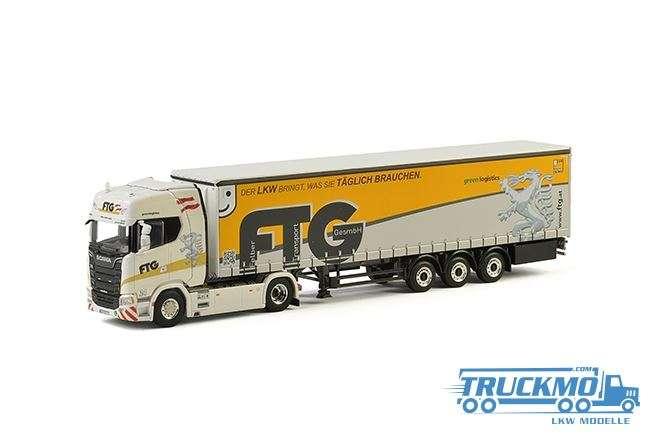 WSI FTG - Felber Transport Scania S Highline CR20H Planenauflieger 3 Achs 01-2273