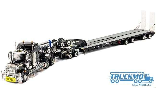 Drake LKW-Modell Kenworth T909 2x8 Dolly und 4x8 Schwenkflügel Anhänger schwarz