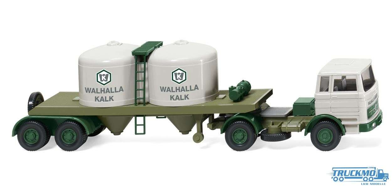 Wiking Walhalla Kalk Mercedes Benz 1620 Chemikaliensattelzug 053403