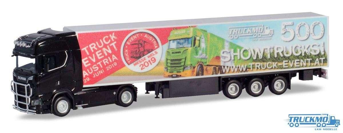 Herpa TRUCK EVENT AUSTRIA 2019 Scania CS20H Eurokoffer-Sattelzug 938112