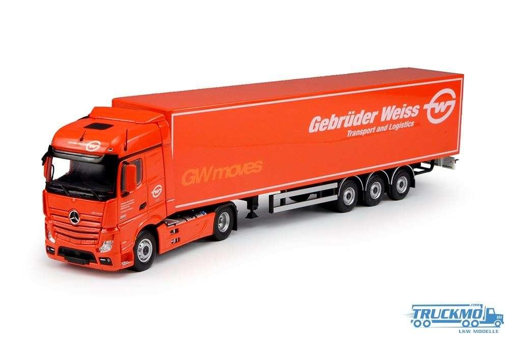 Tekno Gebrüder Weiss Mercedes Benz Actros Bigspace Planenauflieger 70475