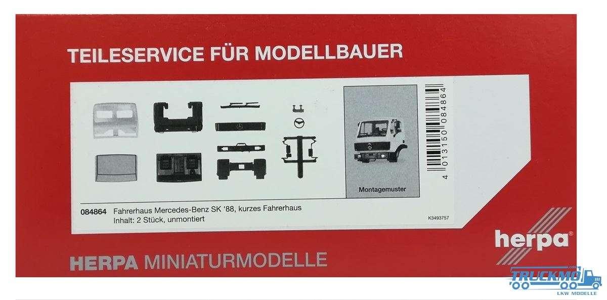 Herpa 084864 Fahrerhaus Mercedes Benz SK kurzes Fahrerhaus 2 Stück 1:87 Neu