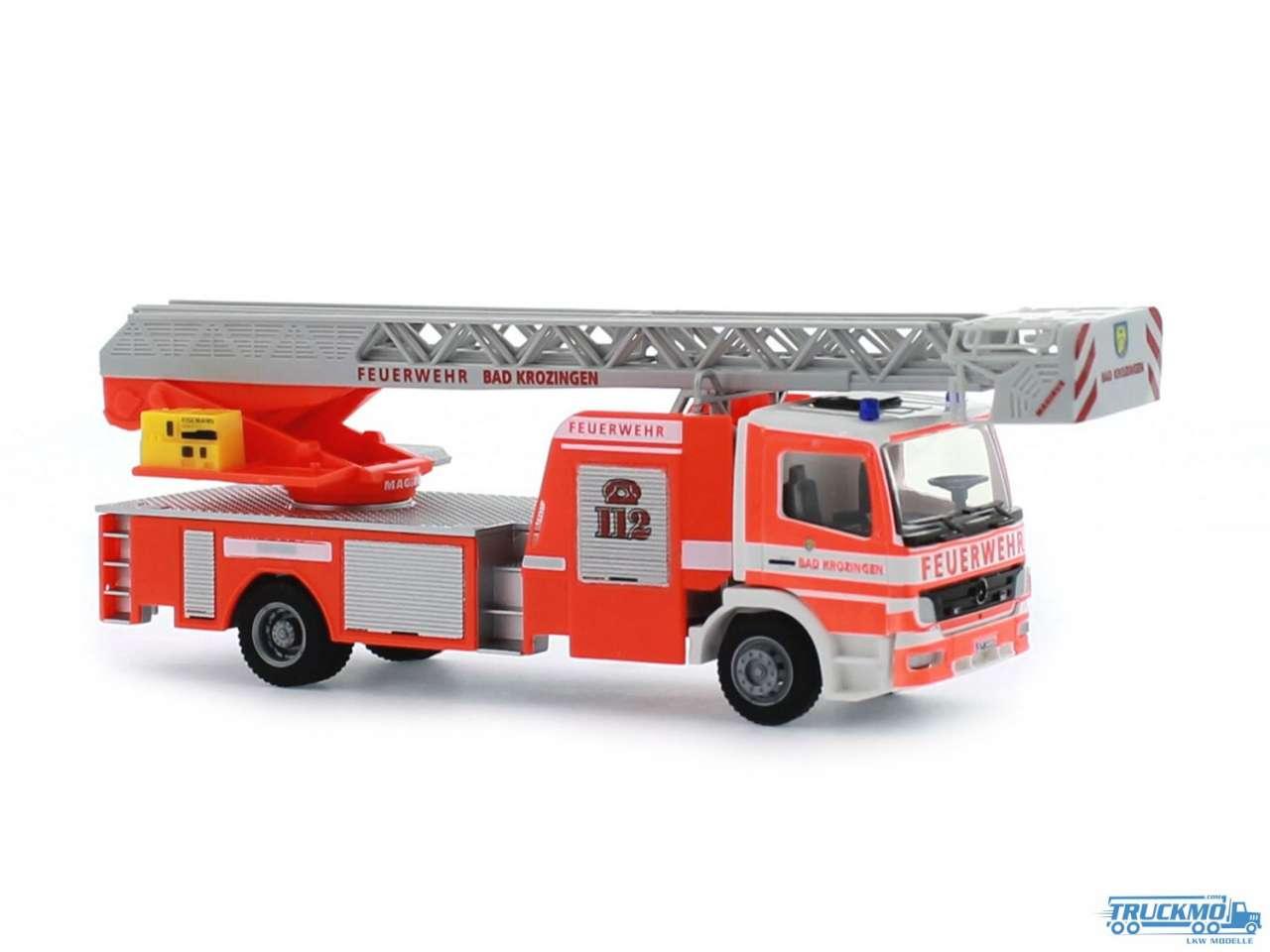 Rietze Feuerwehr Bad Krozingen Mercedes Benz Atego DLK L-AS 71608