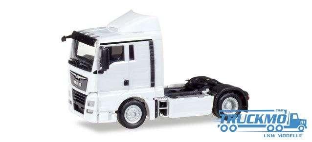 Herpa LKW Modell MAN TGX XL Euro 6c Zugmaschine, weiß 308366
