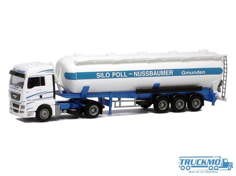AWM Silo Poll Nussbaumer Lkw MAN TGX XLX Kippsilo-SZ Modell