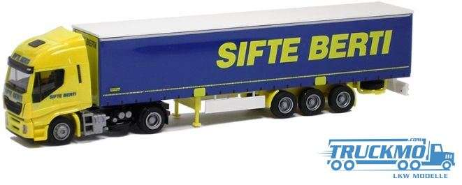 AWM Sifte Berti Iveco HiWay Planen-Sattelzug 75404 Lkw-Modelll