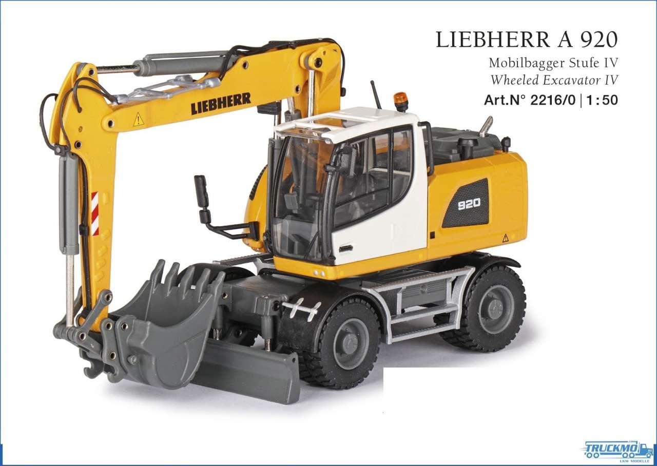 Conrad Liebherr A 920 Mobilbagger Stufe IV 2216/0