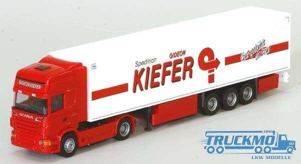 AWM Kiefer LKW Modell Scania 09 Topline Kühlkoffer Sattelzug 74961