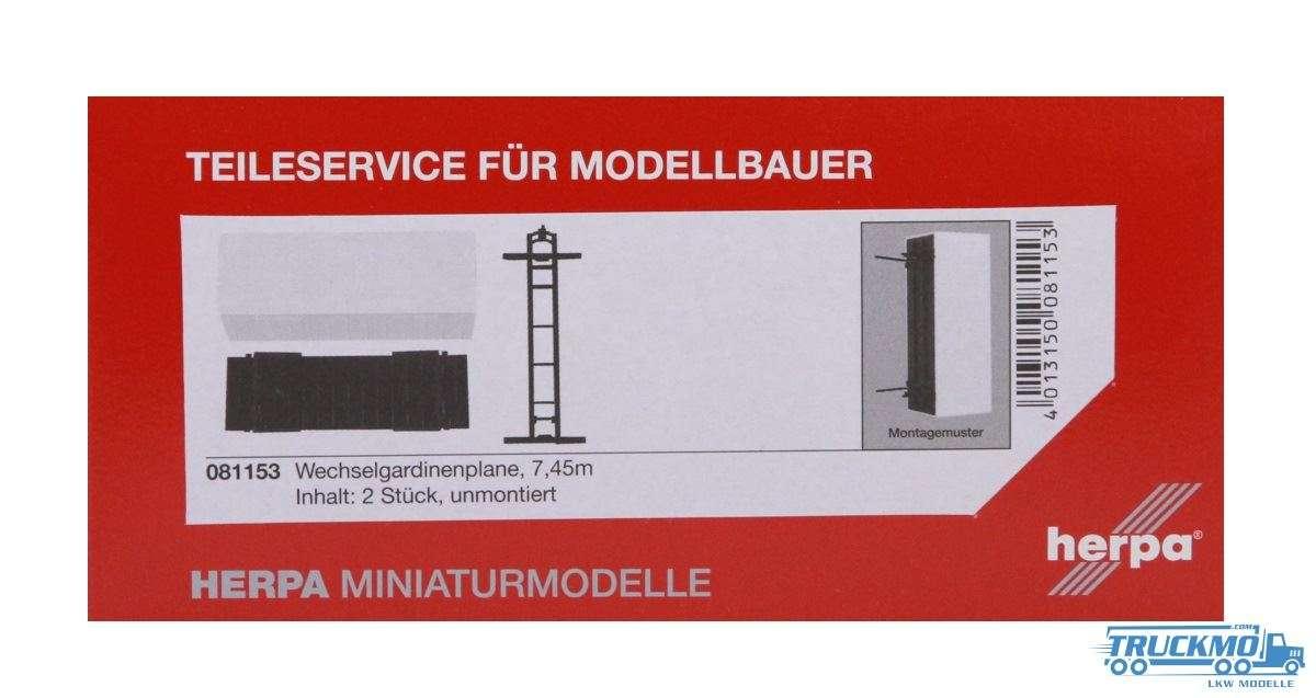 Herpa Wechsel-Gardinenplane mit Grundplatte (7,45m) Inhalt: 2 Stück