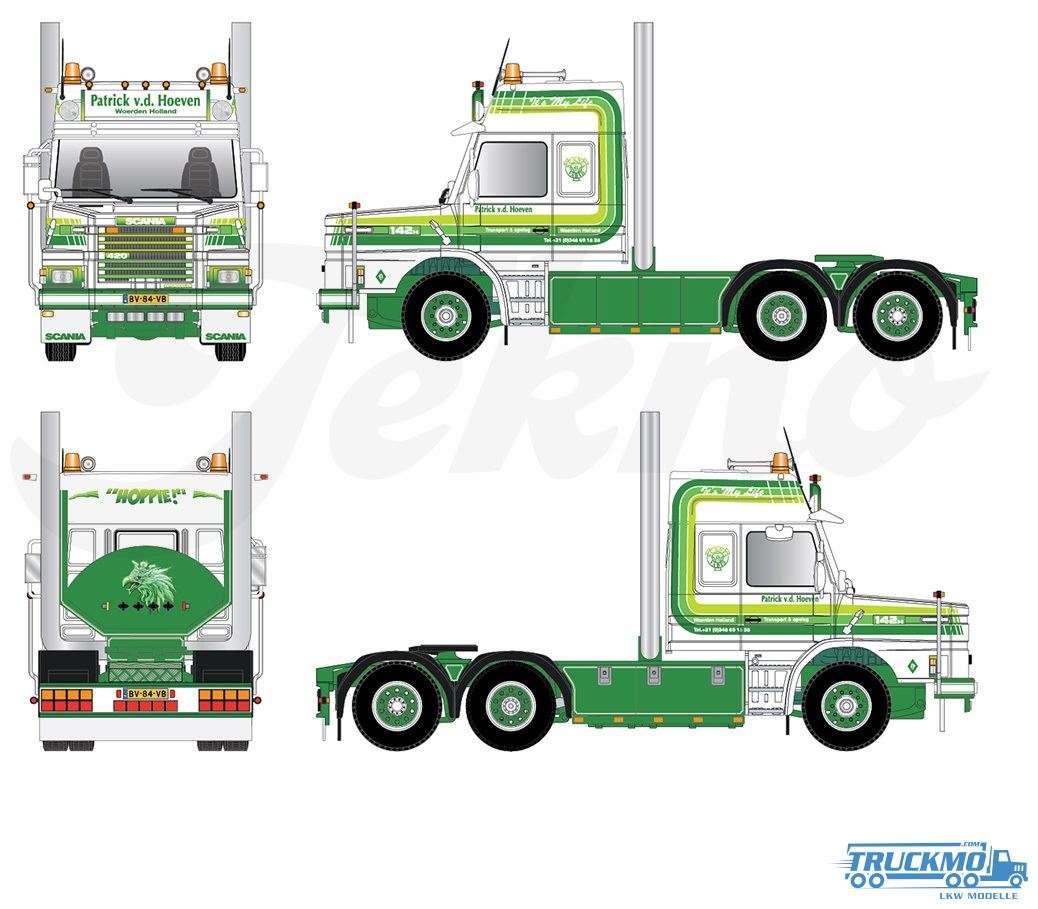 Tekno Patrick van der Hoeven Scania Torpedo 2-Serie Flachdach 67104