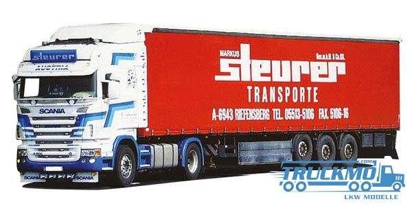 AWM Steurer LKW Modell Scania 09 Tl. Gardinenplanen Sattelzug 54409