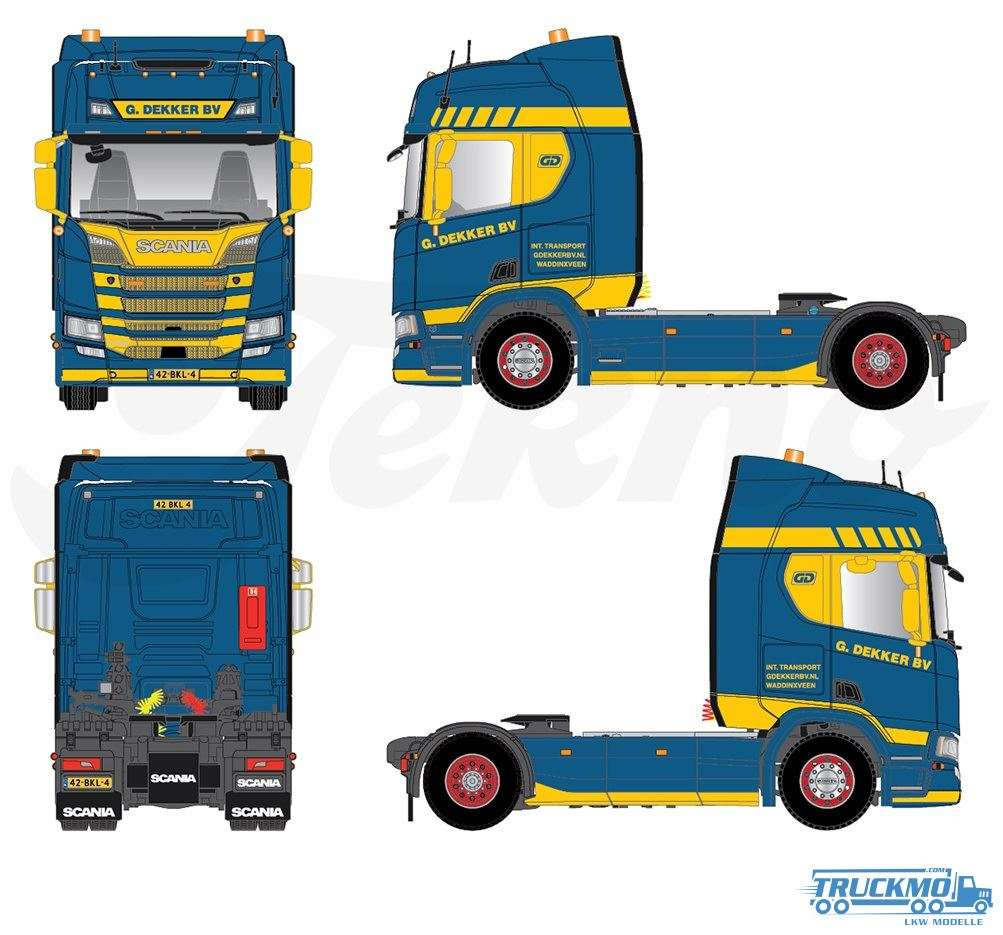 Tekno Models Dekker Scania R450 Highline 76380
