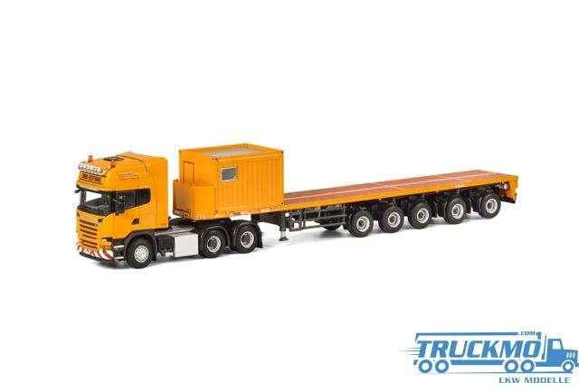 WSI Scania R Streamline Topline Ballast Trailer 5 axle + 10 FT Container 04-1180