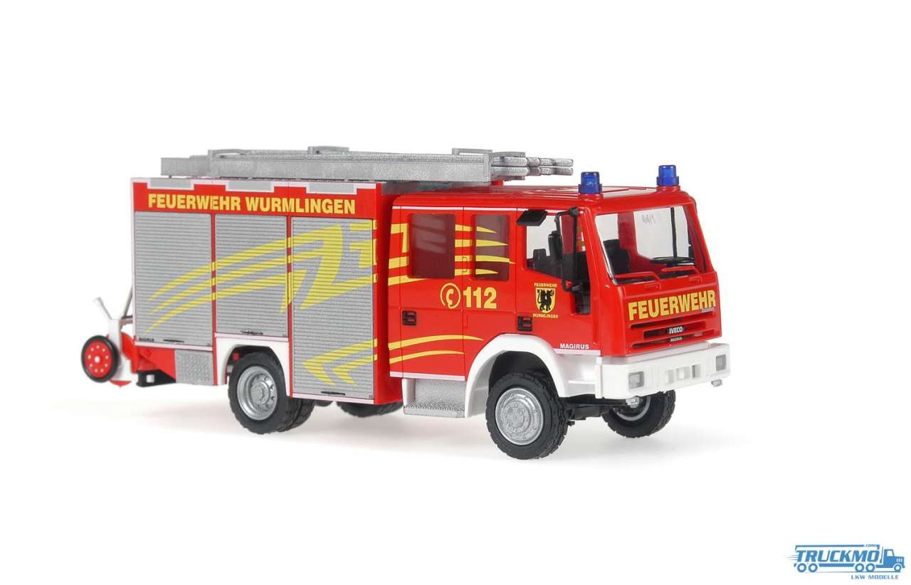 Rietze Feuerwehr Wurmlingen Iveco Magirus Eurofire HLF 20/16 68300