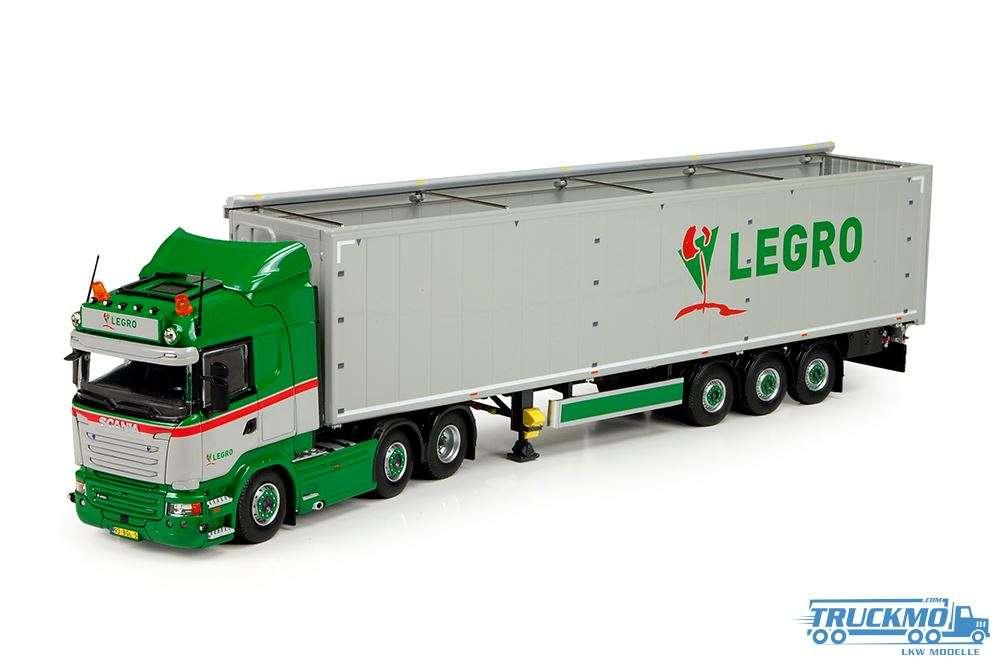 Tekno Legro Scania R Streamline Highline Schubbodenauflieger 71333