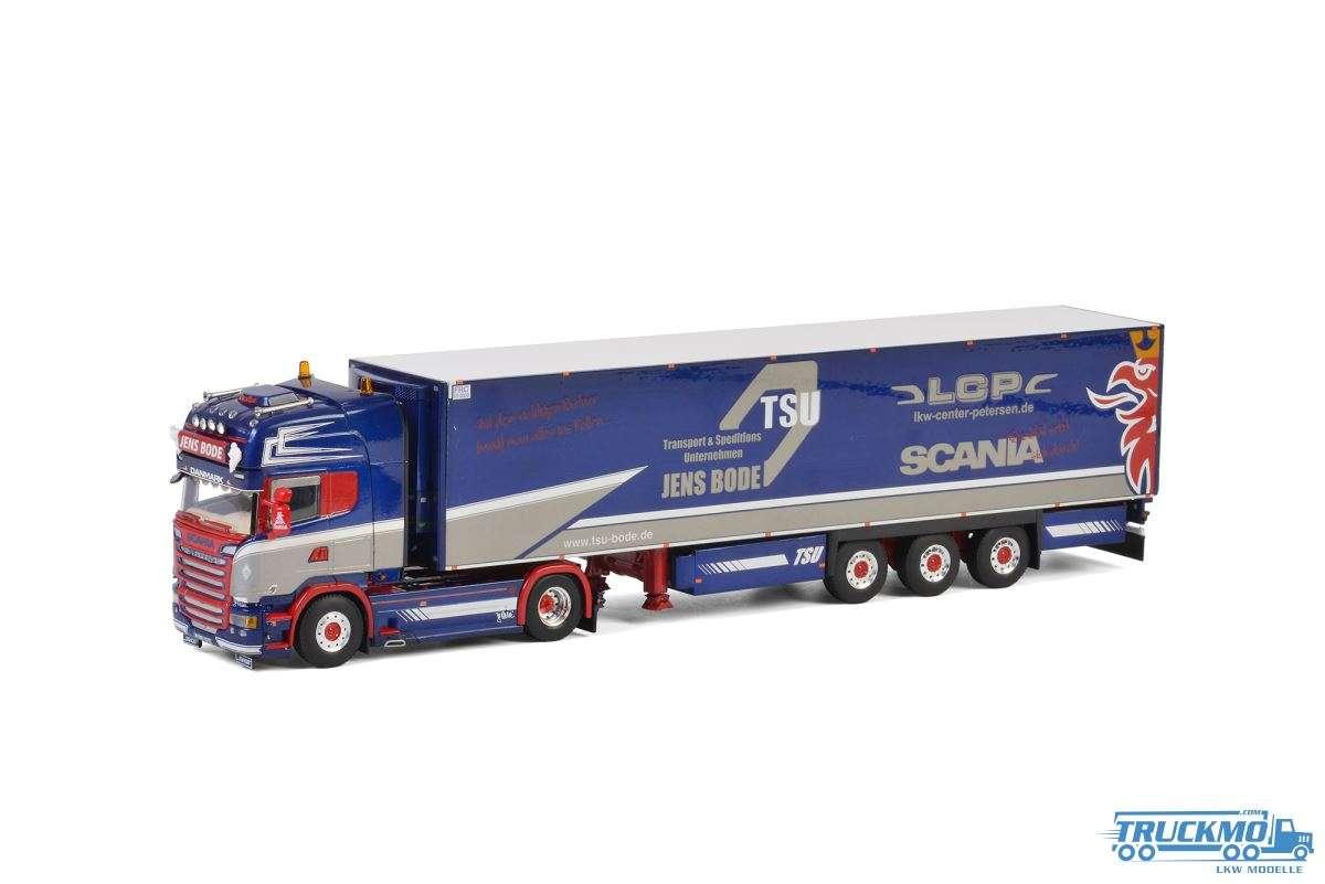 WSI TSU Jens Bode LKW Modell Scania Streamline Topline Kühlauflieger 3 Achs 01-2720