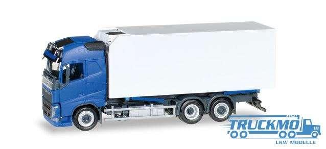 Herpa LKW Modell Volvo FH Gl. Kühlkoffer-LKW blau/weiß 307079