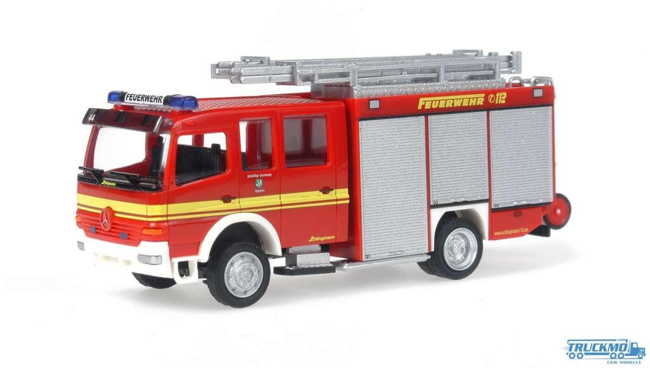 Rietze Feuerwehr Hopsten Mercedes Benz HLF 16/12 Schlingmann 60766
