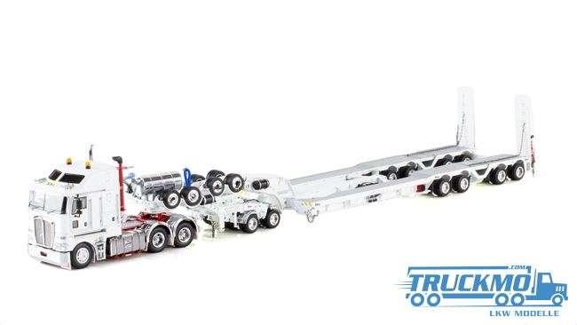 Drake LKW-Modell Kenworth K200 2x8 Dolly und 4x8 dragline bucket trailer weiß