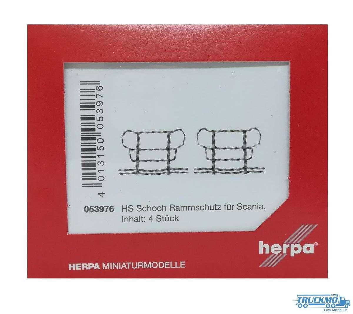 Herpa HS Schoch Rammschutz Scania 4 Stück 053976