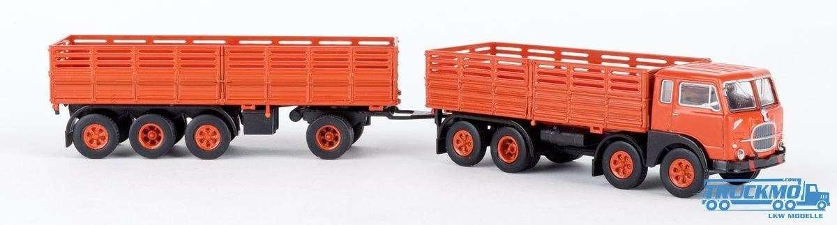 Brekina Fiat 690 Millepiedi orange schwarz 58402