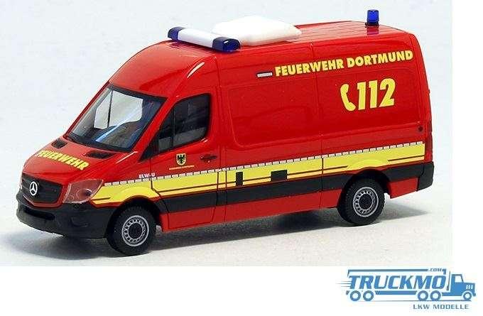 Herpa Feuerwehr Dortmund Umweltdienst Mercedes Benz Sprinter 13 Kasten 936316